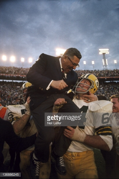 Vince and Jerry after Super Bowl II