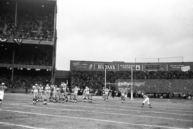 Jerry's game-winning FG in the 1962 NFL title game.